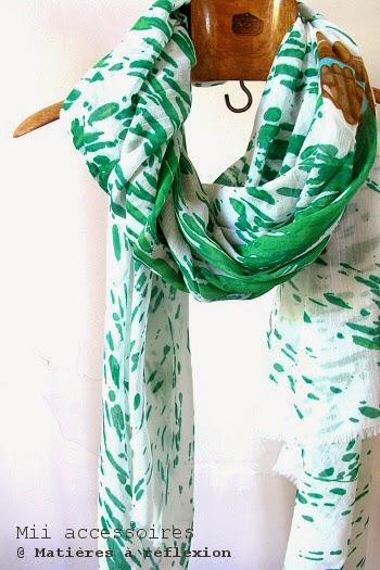 Foulard Mii vert Splash