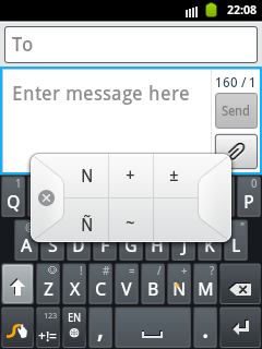Swype Keypad for big letter Ñ