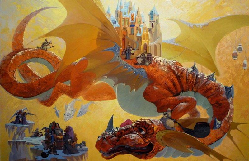 Нулина и дракон в хорошем качестве фотоография