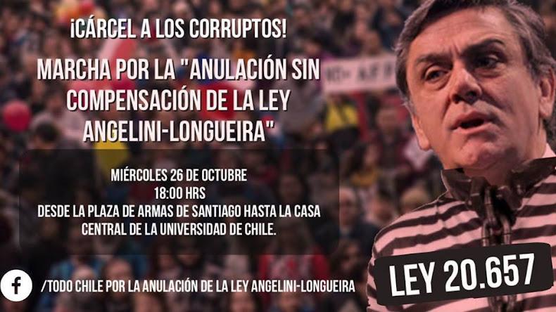 SANTIAGO:  MARCHA POR LA ANULACIÓN SIN COMPENSACIÓN DE LA LEY ANGELINI - LONGUEIRA