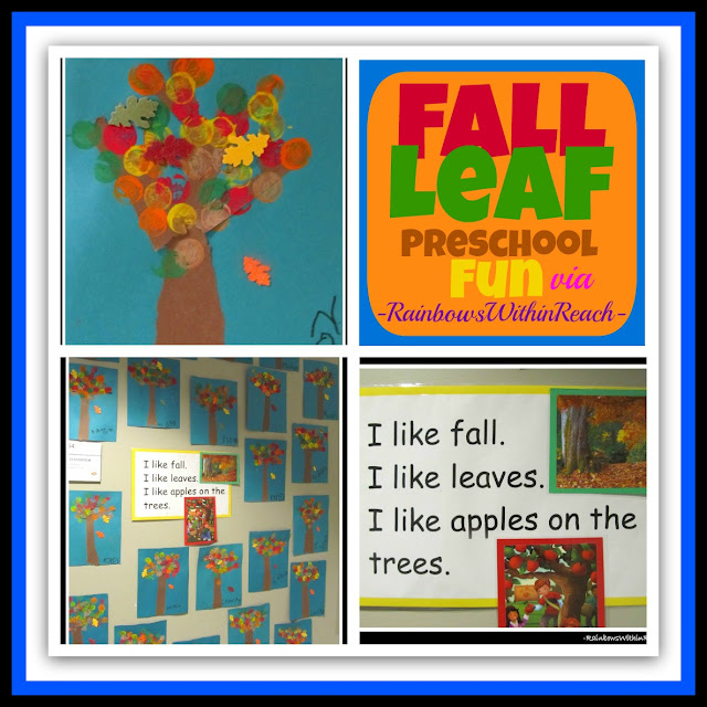 photo of: Fall Leaf Project in Preschool via RainbowsWithinReach
