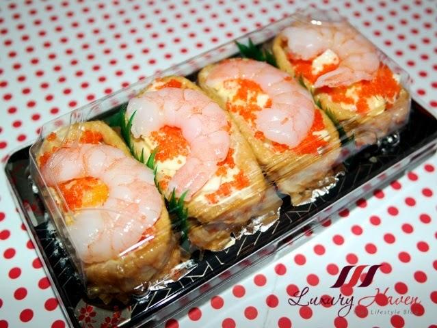 tobiko prawn egg mayo inari age bento recipe
