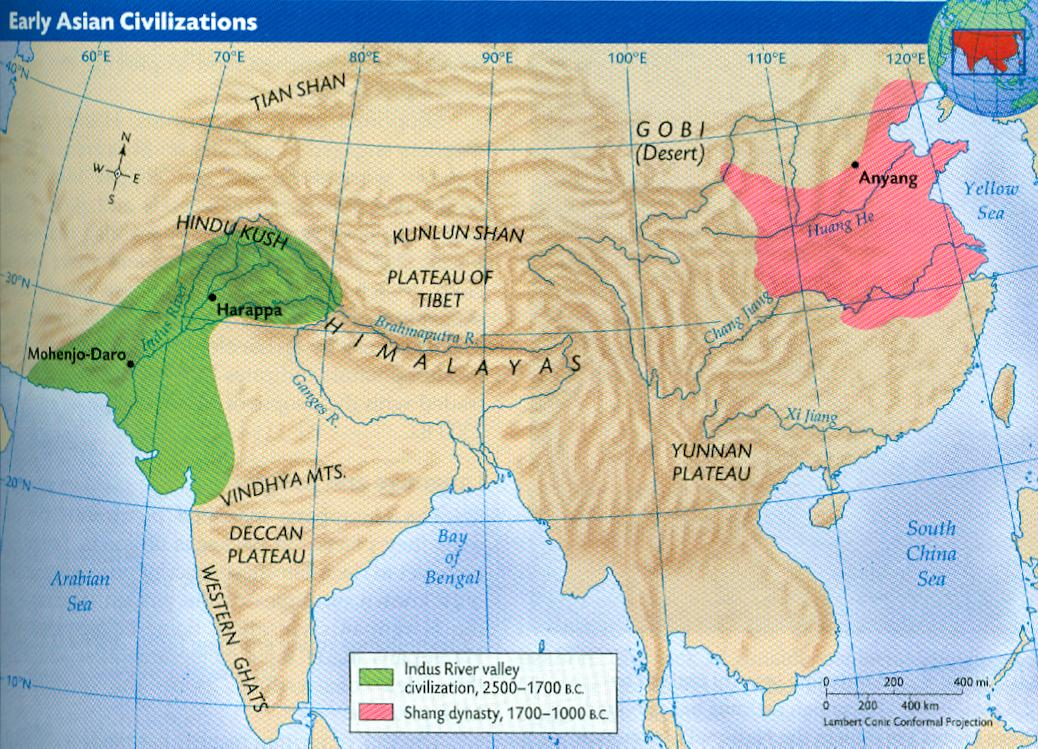 Origin of asian civilization