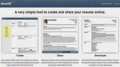 SlashCV is free and simple tool to create and share your CV online