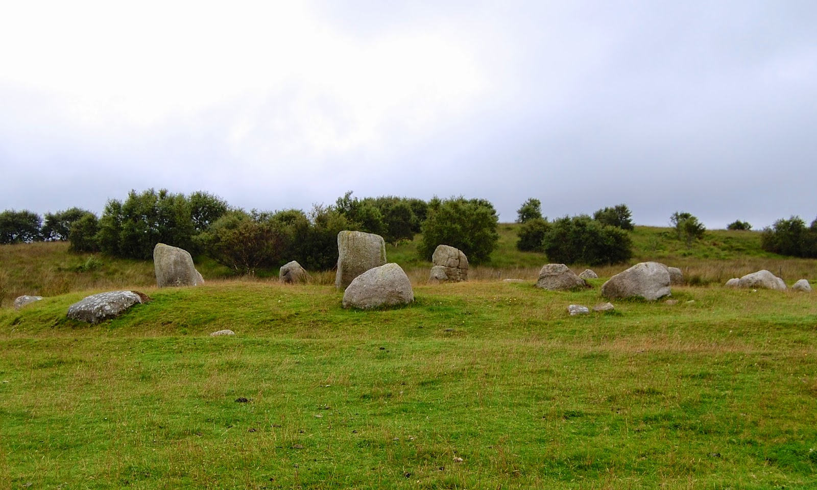 Double stone circle