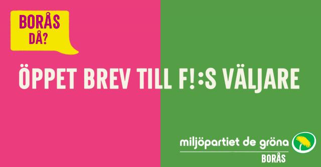 Röstar ni på F! och är från Borås? Hur sak ni rösta kommunalt i Borås?