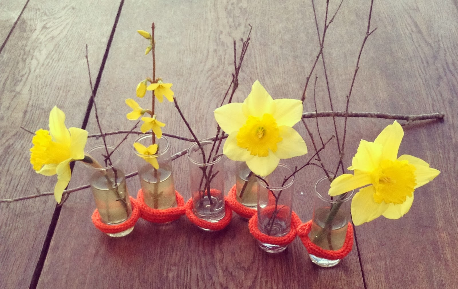 jonquilles et diy vase d'avril