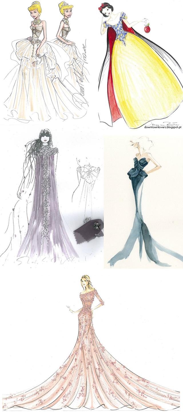 Harrods, vestidos, vestidos das princesas da Disney, Disney, vestidos princesas, princesas Disney, Natal 2012, Harrods Londres, Versace, Roberto Cavalli, Elie Saab, Oscar de la Renta, Marchesa, Jenny Packham, Escada, Missoni, Valentino,