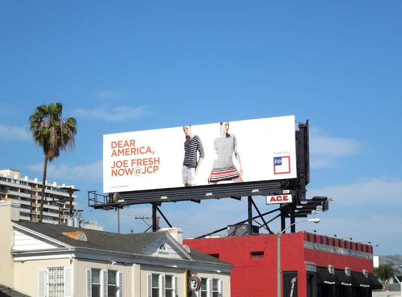 Joe Fresh JCP billboard