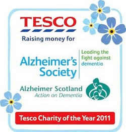 This blog supports the Tesco Charity of the Year, Alzheimer's Society and Alzheimer Scotland