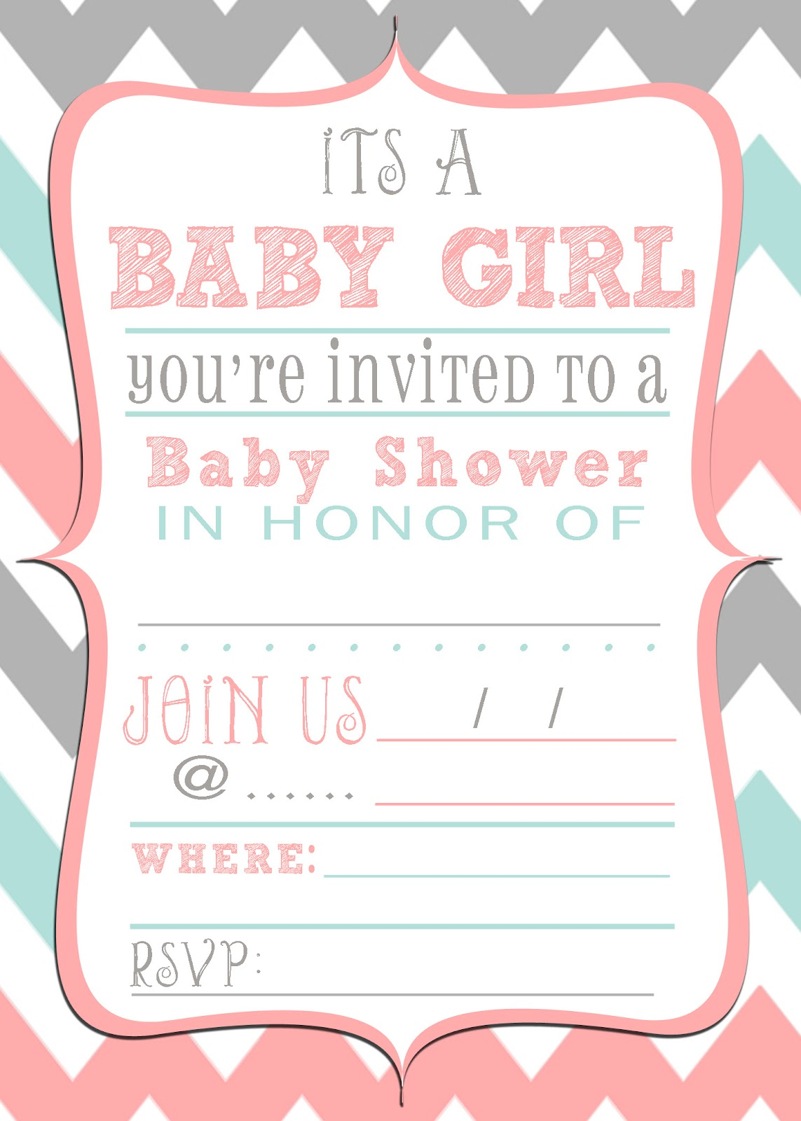 Sly image inside baby shower invitations printable