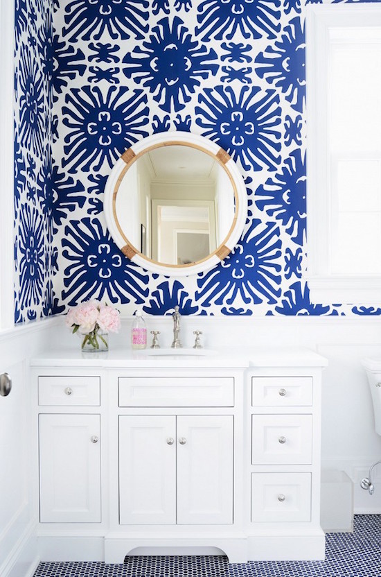 The Zhush Our Blue and White Bathroom Before and After – Blue and White Bathroom