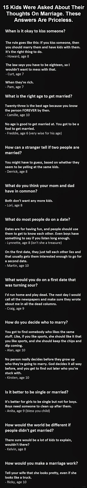 These 15 Kids Were Asked About Their Thoughts On Marriage And The Answers Are Priceless