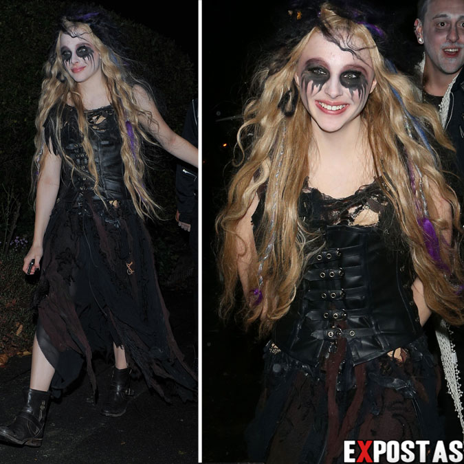 Chloe Moretz: Jonathan Ross' Halloween party em Londres - 31 de Outubro de 2012