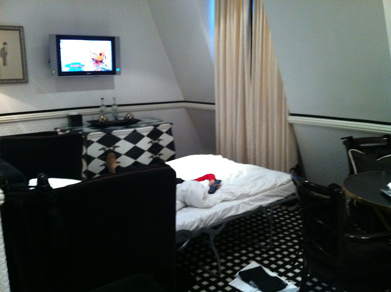 GUEST BEDROOM WITH FOLD OUT BED. ROOM COULD title=