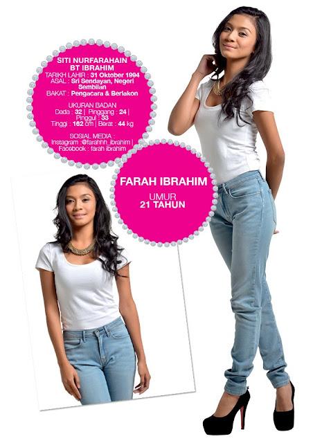 Profil Peserta Dewi Remaja 2014/2015 Farah Ibrahim