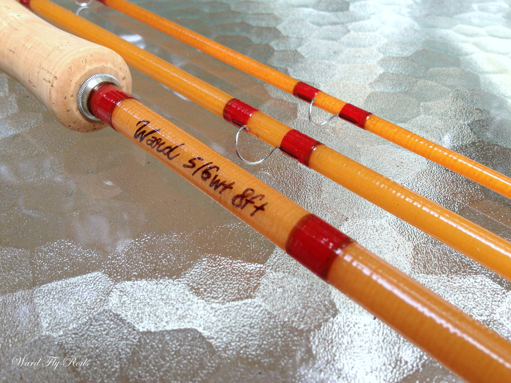Ward fly rods blue halo fiberglass fly rod build complete for Halo fishing rods