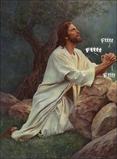 funny jesus praying pffft pffft