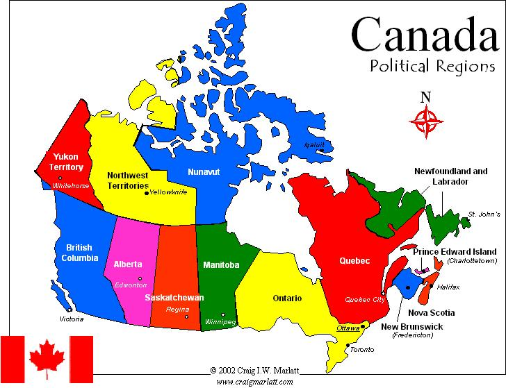LINC at VCC Canadas Provinces Territories Capital Cities and – Map of Canada and Its Cities