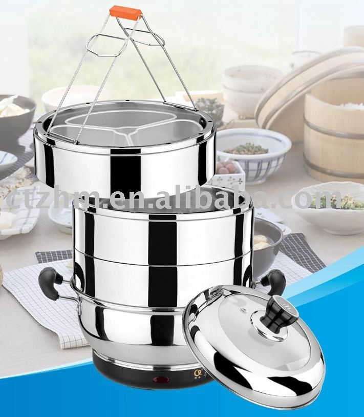 Stainless Steel Electric Vegetable Steamer ~ U easy life trac stainless steel electric food steamer