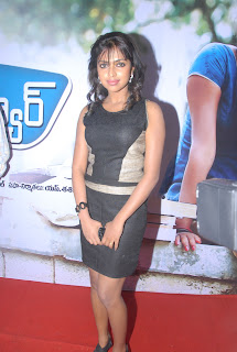 Amla Paul fit and fine tight Top in Black Shorts at Love Failure Audio Launch