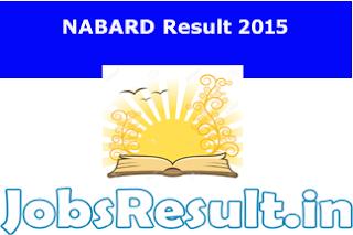 NABARD Result 2015