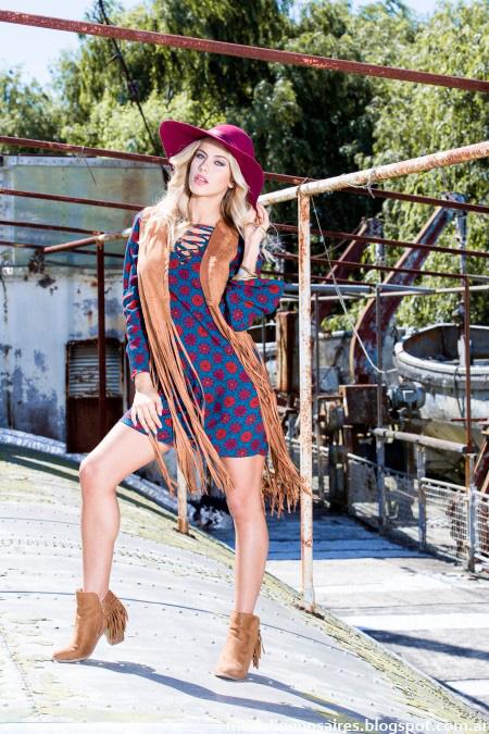 Vestidos cortos otoño invierno 2016 Reina Ana.