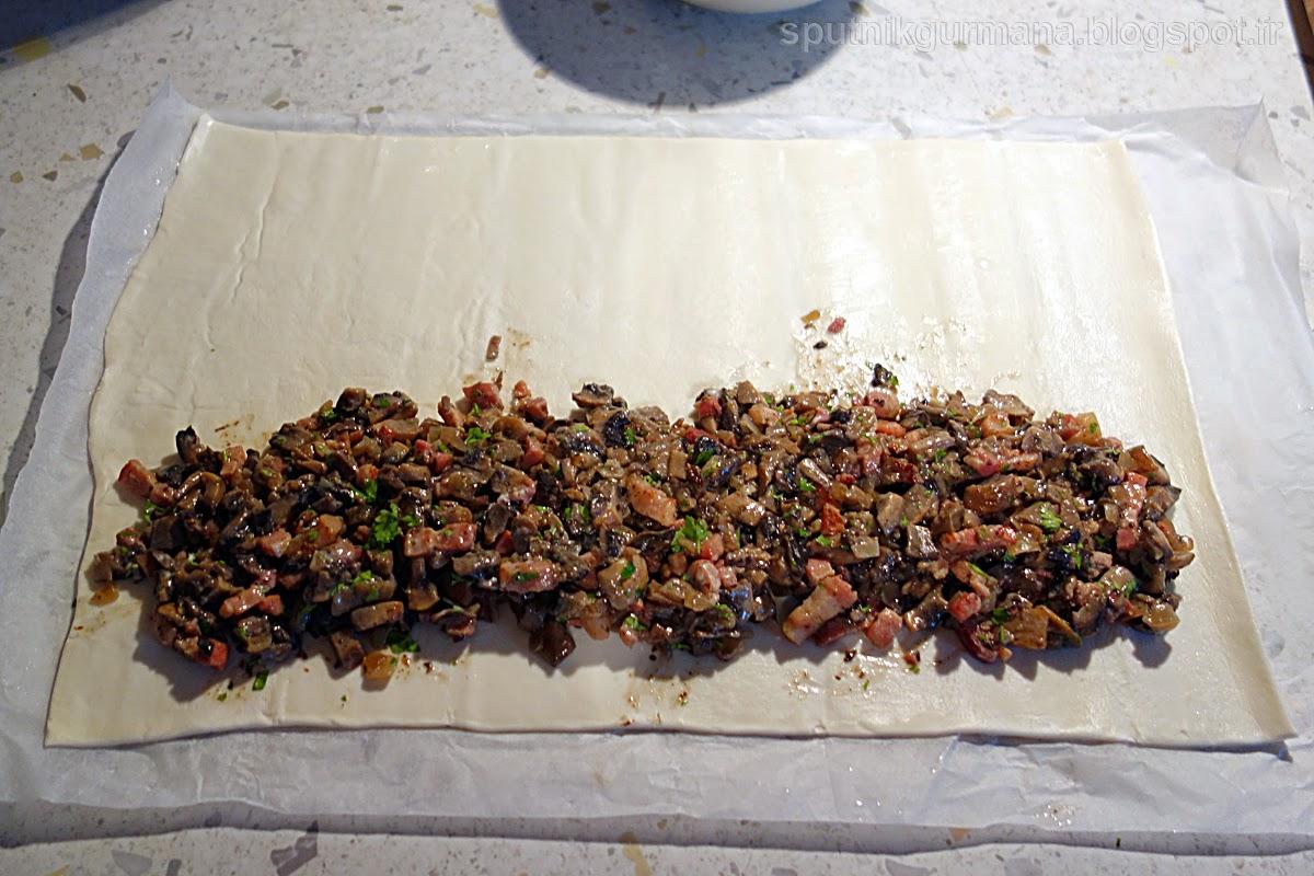 Пирог с грибами: приготовление