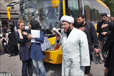 مراسم عزاداری زهرا دختر محمد بن عبدالله امروز در بازار تهران