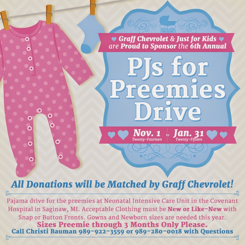 6th Annual PJ's For Preemies Clothing Drive