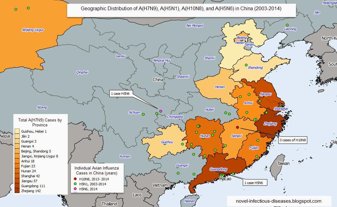Asian bird flu human geography