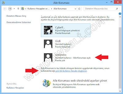 Windows 8 Aile Koruması