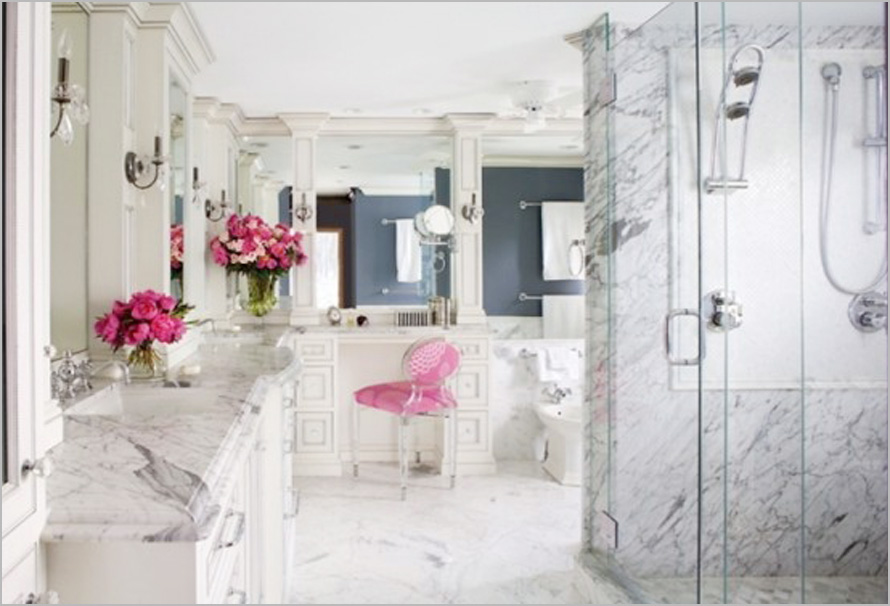 Tinas De Baño Romanticas:Pink Bathroom with Marble