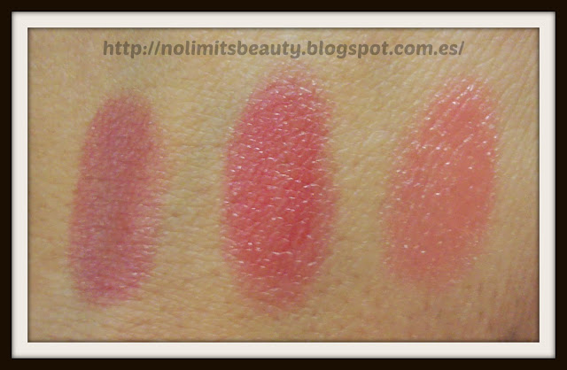 Catrice Pure Shine Colour Lip Balm swatches - 040 My Cherry berry, 050 Cherry-ty, 060 Go Flamingo go!