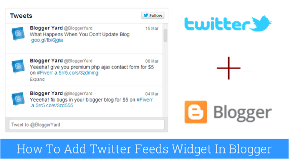 How To Add Twitter Feeds Widget in Blogger
