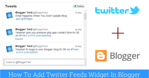 tutorial create twitter widget blogger