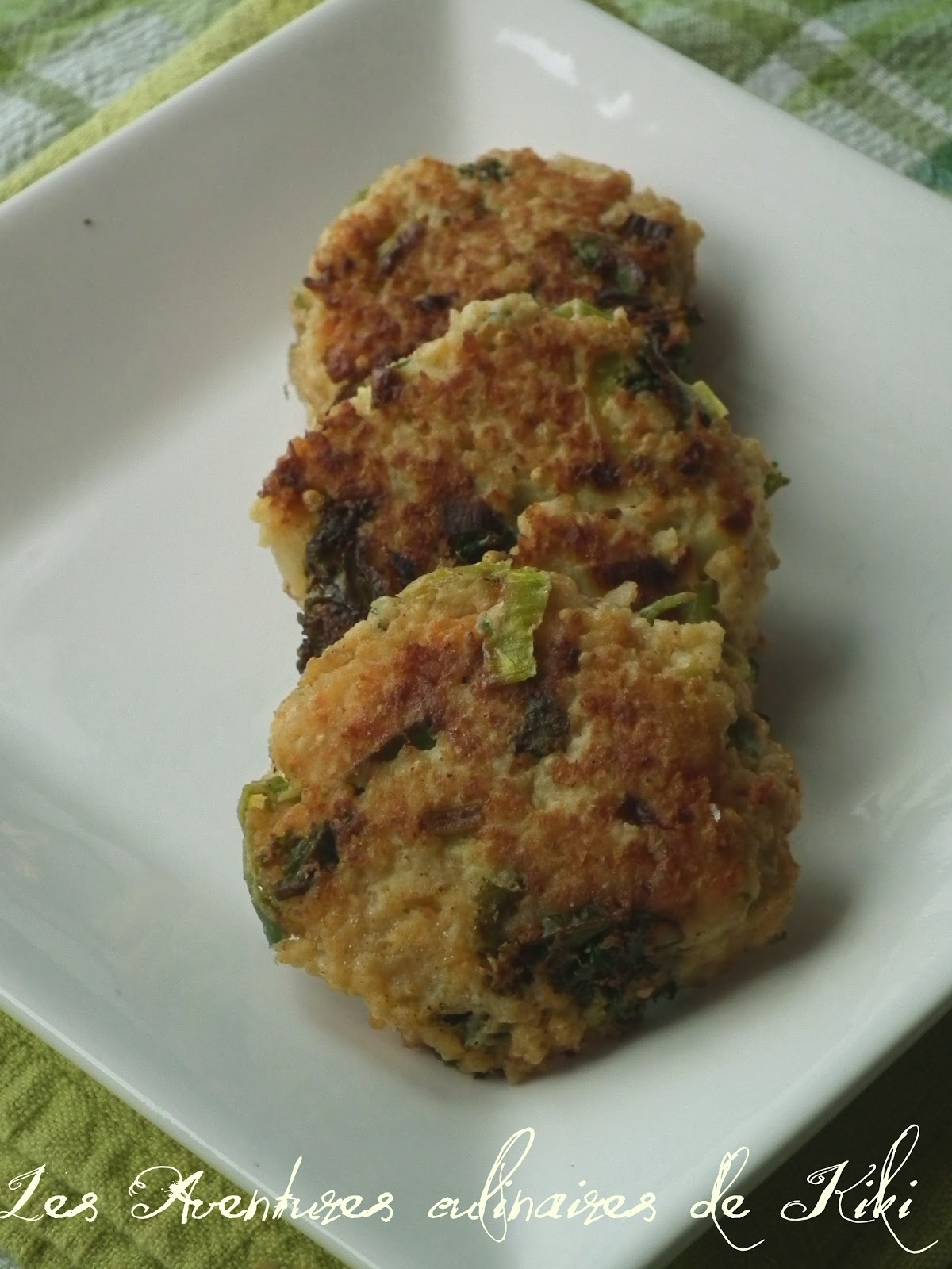 Croquettes de millet au kale et au poireau - Recette