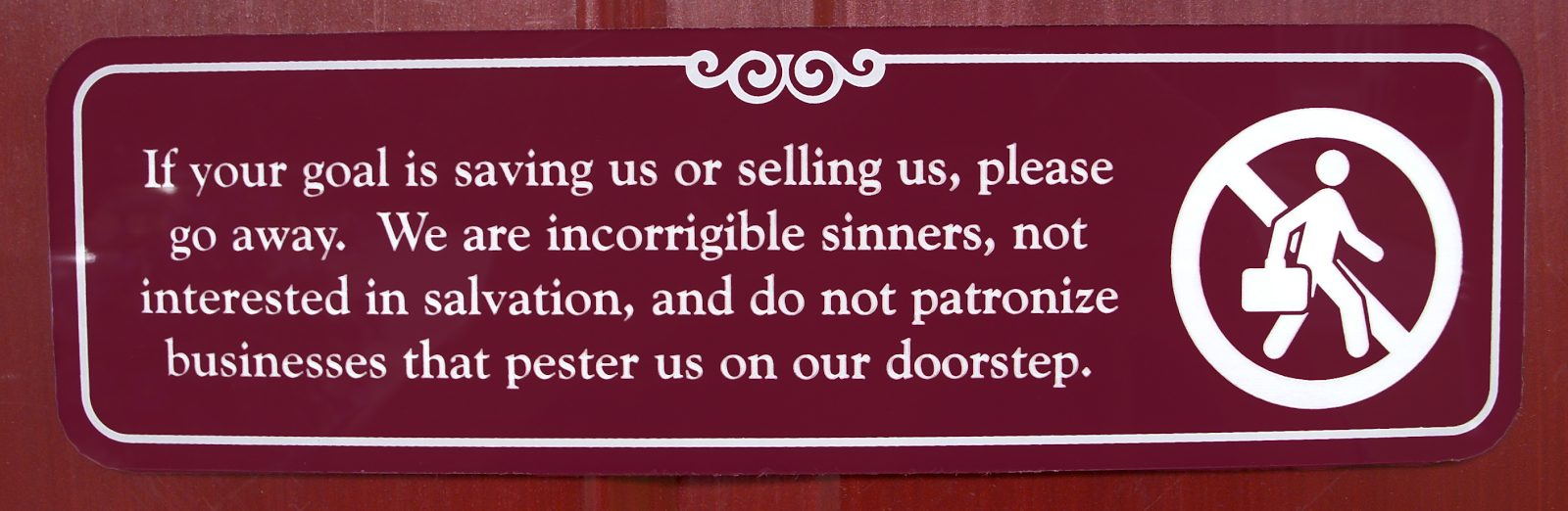 Creative no soliciting sign | Business, Life & Design