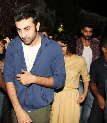 Amir Khan, Ranbir & Kiran snapped at the event gallery