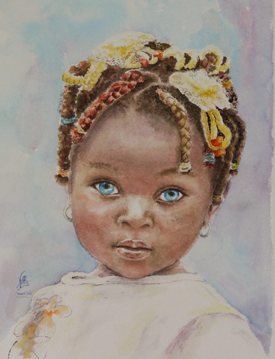 Aquarelles et dessins sur le blog de nelly bertails mars - Dessin d afrique ...