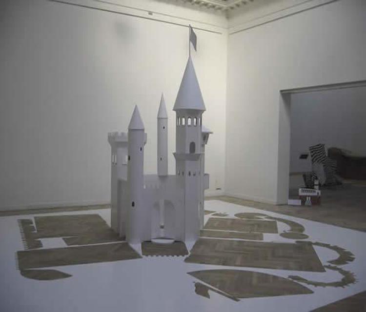 Замок снежной королевы из картона своими руками