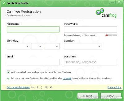 Registrasi ID Camfrog 6.3