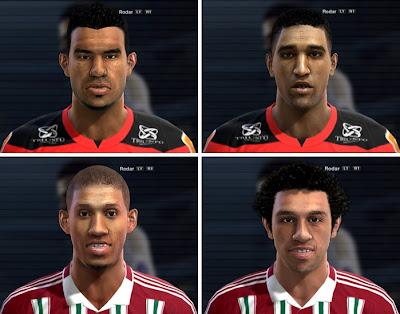 Renato Santos, Cléber Santana, Samuel e Wellington Nem Faces - PES 2013