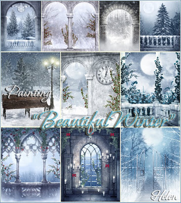 "Painting ""Beautiful Winter"" by Helen 11"
