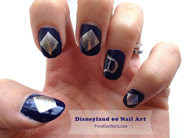 Disneyland 60 Diamond Celebration Nail Art Tutorial
