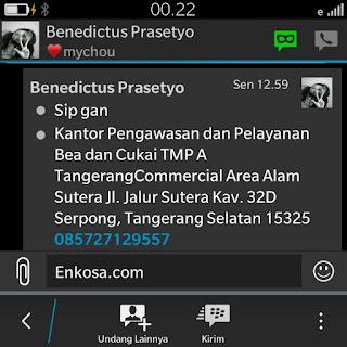 Konfirmasi ulang Alamat lengkao Benecdictus Prasetyo di enkosa sport toko online terpecaya gambar screen shot