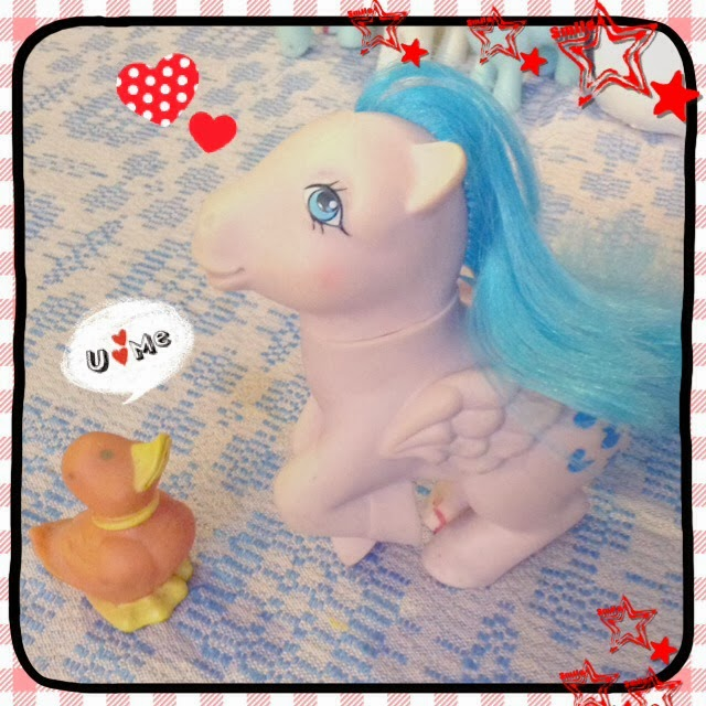 vintage my little pony, duck