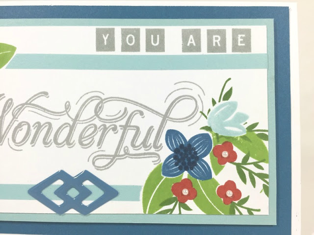 Stamped you are wonderful card