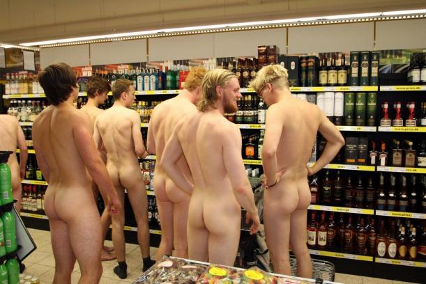 Nude girls at the store