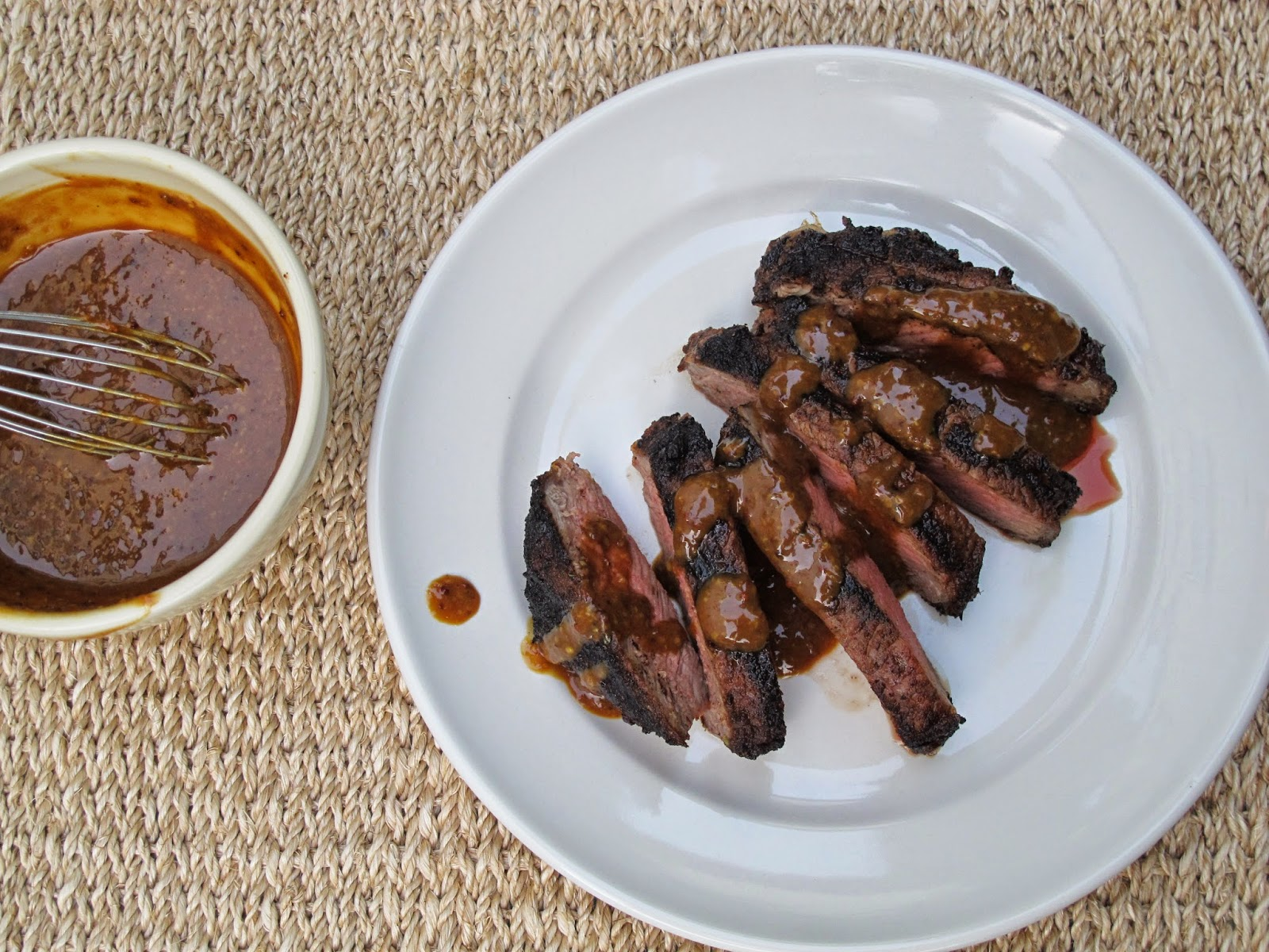 Grilled Rib Eye Bar American Steak Sauce